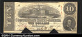 Confederate Notes:1863 Issues, 1863 $10 State Capitol at Columbia, SC; R.M.T. Hunter, T-59, Fi...