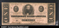 Confederate Notes:1863 Issues, 1863 $1 Clement C. Clay, T-62, Choice CU. A crisp, well centere...