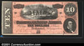 Confederate Notes:1864 Issues, 1864 $10 Horses pulling Cannon; R.M.T. Hunter on right, T-68, C...