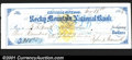Miscellaneous:Checks, 1866 check from the Rocky Mountain National Bank, Central City,...