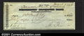 Miscellaneous:Checks, 1854 check from the Tanners Bank of Catskill, NY, VF. You may b...
