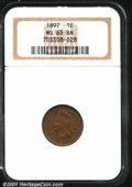 Indian Cents: , 1897 1C, BN