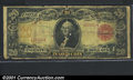 Large Size Gold Certificates:Large Size, 1905 $20 Gold Certificate, Fr-1179, Good-VG. A well worn exampl...