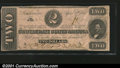 Confederate Notes:1863 Issues, 1863 $2 Judah P. Benjamin, T-61, XF. A low serial numbered exam...