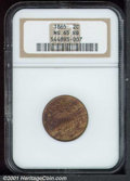 Two Cent Pieces: , 1865 2C, RB
