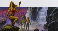 "Boris Vallejo - ""Waterfall"" Painting Original Art (undated)"
