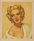 Illustration:Magazine, BILL JUSTICE (American b.1914) . Mamie Van Doren . Oil oncanvasboard . 24 x 22in. . Signed lower right...