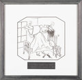 Illustration:Magazine, VIRGIL (VIP) PARTCH (American 1916 - 1984) . Yes! Yes! Under myBed!, 1943 . Ink on paper . 14 x 14-1/2in. . Signed cent...