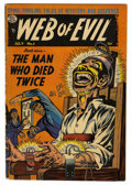Golden Age (1938-1955):Horror, Web of Evil #5 (Quality, 1953) Condition: VG/FN....