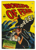 Golden Age (1938-1955):Horror, Worlds of Fear #2 (Fawcett, 1952) Condition: FR....