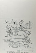 Original Comic Art:Covers, Huey, Dewey, and Louie Junior Woodchucks #59 Cover Original Art(Gold Key, 1979)....