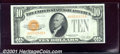 Small Size Gold Certificates:Small Size, 1928 $10 Gold Certificate, Fr-2400, Choice-Gem CU. If the cente...