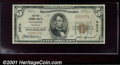 National Bank Notes:Colorado, First National Bank of Mancos, CO, Charter #9674. 1929 $5 Typ...
