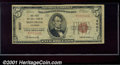 National Bank Notes:Colorado, First National Bank of Montrose, CO, Charter #4007. 1929 $5 Typ...