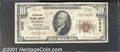 National Bank Notes:Colorado, Western National Bank of Pueblo, CO, Charter #2546. 1929 $10 Ty...