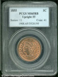 1855 1C MS 65 Red and Brown PCGS. Some softness in stars 2 through 8 with at least 50% of the luster remaining. The surf...