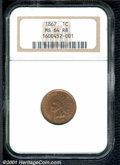 Indian Cents: , 1867 1C, RB