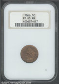 Proof Indian Cents: , 1866 1C, RB