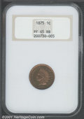 Proof Indian Cents: , 1875 1C, RB