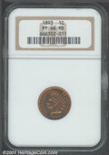 Proof Indian Cents: , 1893 1C, RD