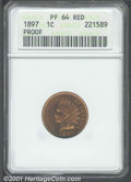 Proof Indian Cents: , 1897 1C, RD