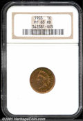 Proof Indian Cents: , 1903 1C, RD