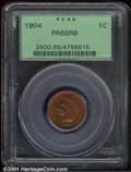 Proof Indian Cents: , 1904 1C, RB