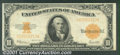 Large Size Gold Certificates:Large Size, 1922 $10 Gold Certificate, Fr-1173, XF. You may bid on this lot...