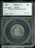 Additional Certified Coins: , 1864 25C