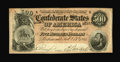 Confederate Notes:1864 Issues, T64 $500 1864. Cr. 489 PF-1. Signatures are of (Mrs.)V.M. Penrifoy and (Miss) A.S. Stuart. Embossing is quite strong on thi...