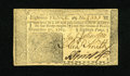 Colonial Notes:New Jersey, New Jersey December 31, 1763 18d Choice About New+++. A very light centerfold is found on this note which faces up as a near...