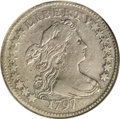 Early Dimes: , 1797 10C 16 Stars--Cleaned--ANACS. VF20 Details. JR-1, R.4. Thisslate-gray representative is subdued by a past dip, and a ...