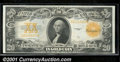 Large Size Gold Certificates:Large Size, 1922 $20 Gold Certificate, Fr-1187, XF. A crisp, bold, and orig...