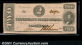 Confederate Notes:1862 Issues, 1862 $2 Judah P. Benjamin, T-54, Choice AU. This note is from a...