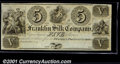 Obsoletes By State:Ohio, $5 Franklin Silk Company, Franklin, OH, CU. Unissued Remainder....