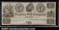Obsoletes By State:Ohio, $5 Franklin Silk Company, Franklin, OH, Choice CU. Unissued Rem...
