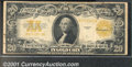 Large Size Gold Certificates:Large Size, 1922 $20 Gold Certificate, Fr-1187, Fine. A couple of minor rus...