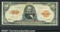 Large Size Gold Certificates:Large Size, 1922 $50 Gold Certificate, Fr-1200a (Small Serial Numbers), VF+...