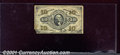 Fractional Currency: , 1864-1869 10c Third Issue, Washington, Fr-1255, VF, missing bot...