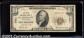 National Bank Notes:West Virginia, `Union National Bank of Clarksburg, WV, Charter #7681. 1929 $10...