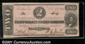 Confederate Notes:1862 Issues, 1862 $2 Judah P. Benjamin, T-54, Choice AU. This note was part ...