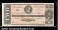 Confederate Notes:1864 Issues, 1864 $2 Judah P. Benjamin, T-70, XF-AU. A beautiful, broad marg...