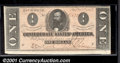 Confederate Notes:1864 Issues, 1864 $1 Clement C. Clay, T-71, CU. A broad bottom margin gives ...