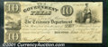 Miscellaneous:Republic of Texas Notes, 1838 $10 Government of Texas, Fine-VF, Cut Cancelled. Cr-H17. Y...