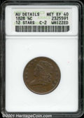 """1828 1/2 C 12 Stars XF 40 Brown ANACS. Mintage: 606,000. The latest Coin World """"Trends"""" price is $205.00. The..."""