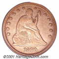 Seated Quarters: , 1870-CC 25C