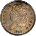 Proof Classic Head Half Cents: , 1836 1/2 C PR64 Brown PCGS. B-1 Original, Large Berries, Low R.6.Only proof half cents were struck in 1836, and restrikes ...