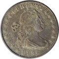 Early Half Dimes: , 1796 H10C LIKERTY AU50 PCGS. V-1, LM-1, R.3. The weak upper andlower serifs of the B in LIBERTY create the illusion of a m...