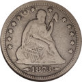 Seated Quarters: , 1873-CC 25C Arrows Fine 12 NGC. This date is in great demand from date as well as type collectors of the series, as the onl...