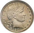 Proof Barber Quarters: , 1901 25C PR66 NGC. Like the preceding proof, this piece also displays slight contrast between the fields and devices. Only ...